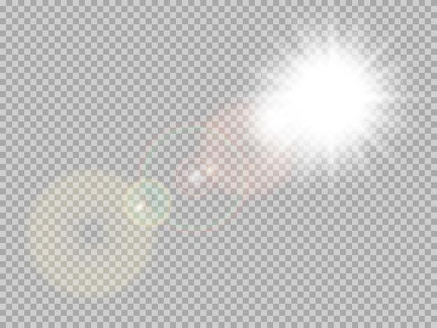 Destello de lente especial de luz solar.