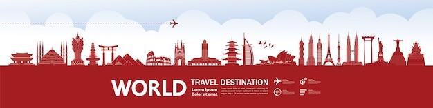Destino de viaje alrededor del mundo grand