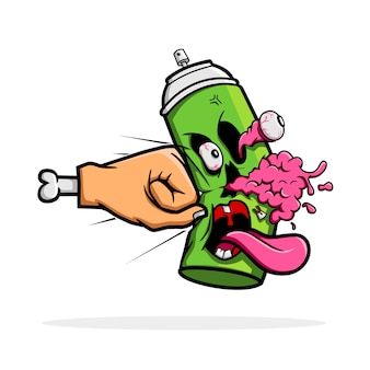 Destruye la pintura en aerosol