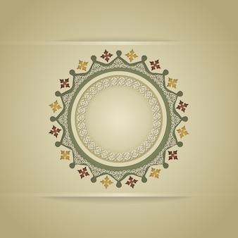 Detalle colorido ornamental islámico realista del mosaico