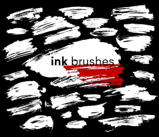 Detalle pincel de tinta trazo de pintura