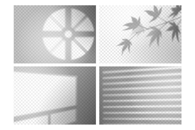 Detalles de efecto de superposición de sombras transparentes