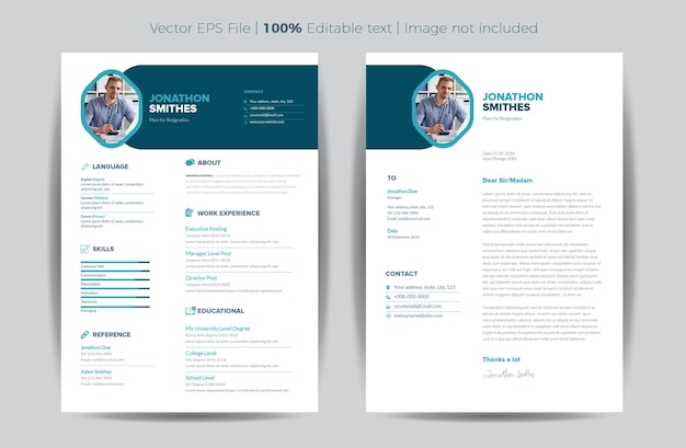 Detalles personales del diseño de la plantilla del curriculum vitae del cv para la solicitud de empleo