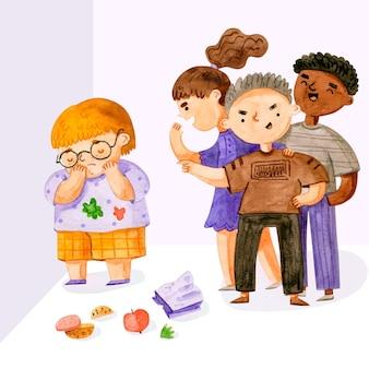 Detener el concepto de bullying y discriminación