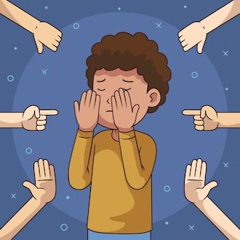 Detener el concepto de bullying ilustrado