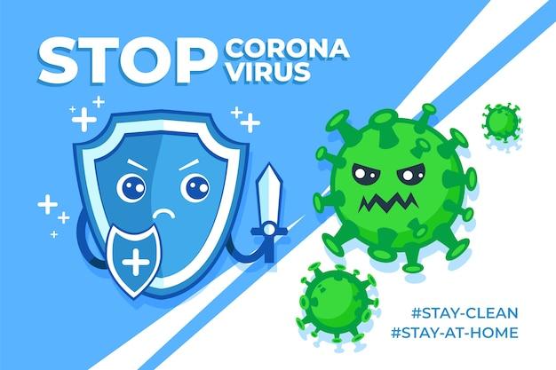 Detener el concepto de coincidencias de coronavirus