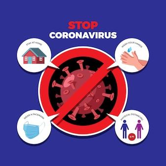Detener el concepto de coronavirus