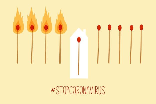 Detener el concepto de distancia social de coronavirus
