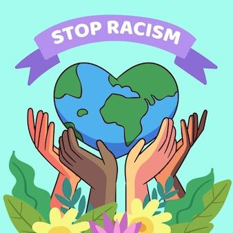 Detener el concepto de ilustración de racismo