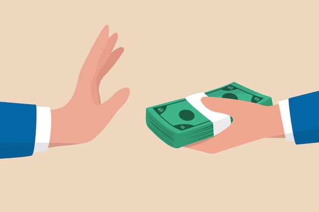 Detener la corrupción, negándose a aceptar el concepto de dinero de soborno
