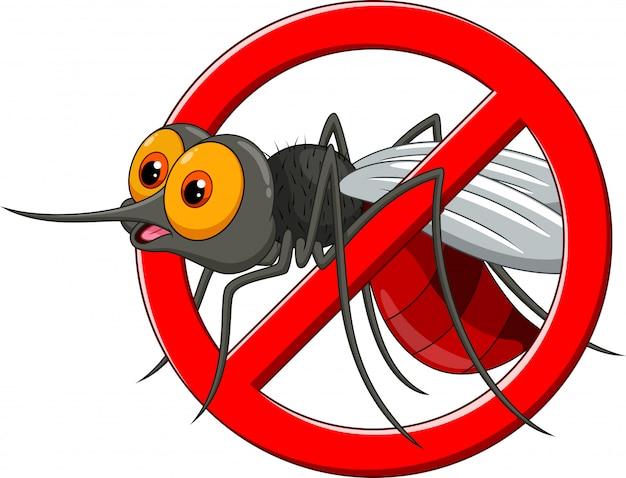 Detener dibujos animados de mosquitos