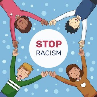 Detener el diseño de ilustración de racismo