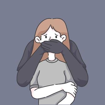 Detener la ilustración de abuso