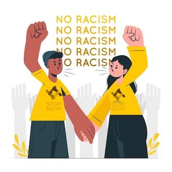 Detener la ilustración del concepto de racismo