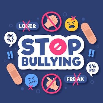 Detener el mensaje de bullying con elementos