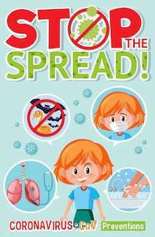 Detener la propagación del signo del virus corona