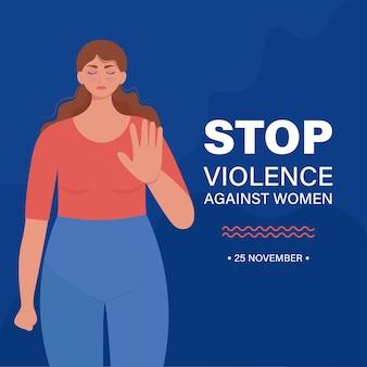 Detener la violencia contra la bandera de la mujer.