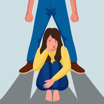 Detener la violencia de género con la mujer.