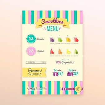 Detox organic smoothie bar menu del restaurante