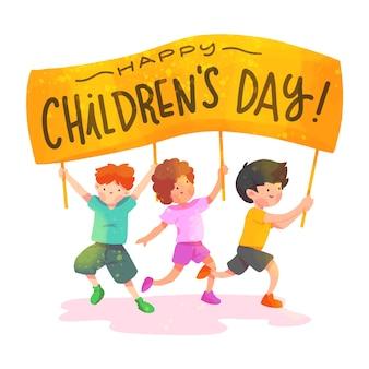 Día de la acuarela de los niños