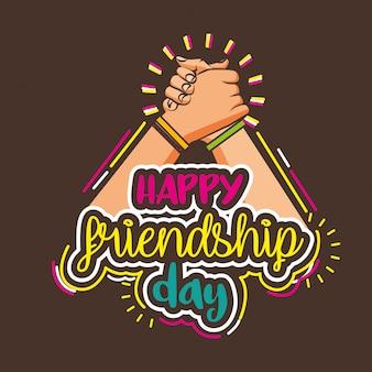 Día de la amistad feliz dibujos animados