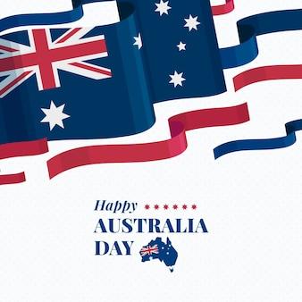 Día de australia en diseño plano.