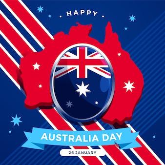 Día de australia en diseño plano