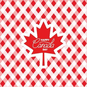 Día de canadá con tarjeta de hoja de arce.