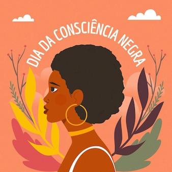 Día de la conciencia negra dibujado a mano