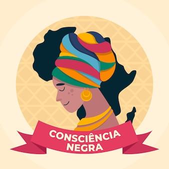 Día de la conciencia negra en diseño plano