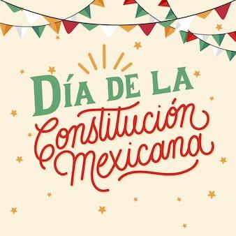 Día de la constitución dibujado a mano
