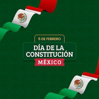 Día de la constitución de méxico plana