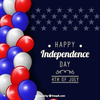 Día de la independencia de ee.uu. con globos
