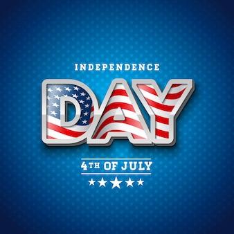 Día de la independencia de la ilustración vectorial de estados unidos