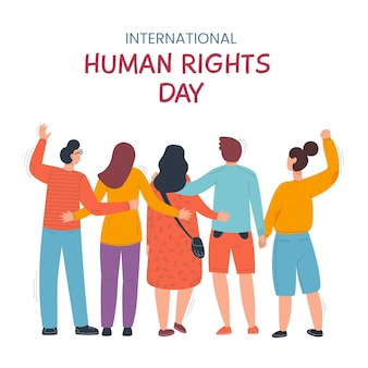 Día de los derechos humanos en diseño plano