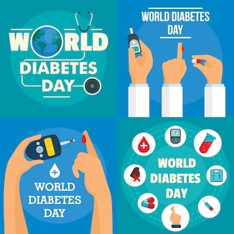Dia de la diabetes de fondo
