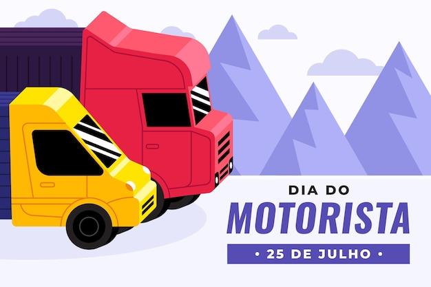 Dia do motorista celebración ilustración