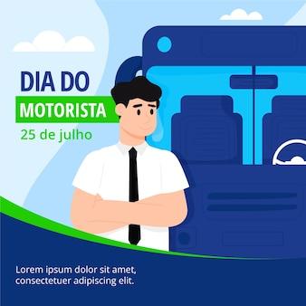 Dia do motorista ilustración