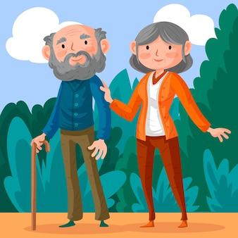 Dia dos avós con abuelos