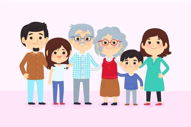 Dia dos avós con familia