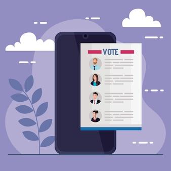El día de las elecciones vota el documento de los presidentes sobre el diseño de teléfonos inteligentes, el gobierno y el tema de la campaña.