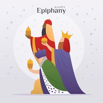 Día de la epifanía en diseño plano