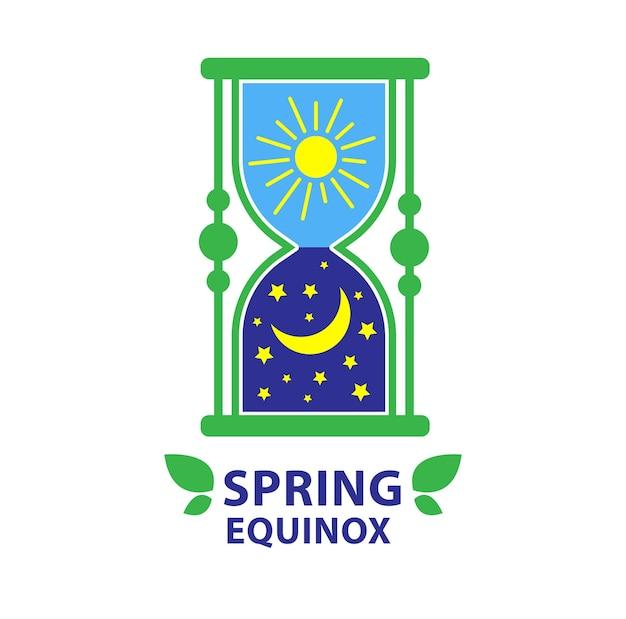 Día del equinoccio de primavera y equinoccio de otoño fondo de día y noche