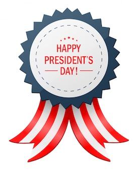 Día feliz de los presidentes con la bandera de la cinta.