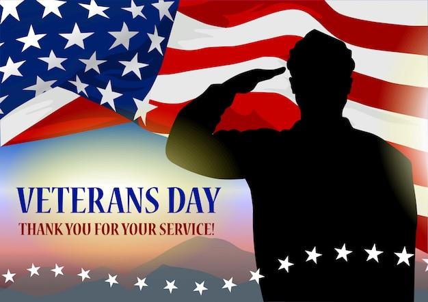 Día de la fiesta de los veteranos banner.