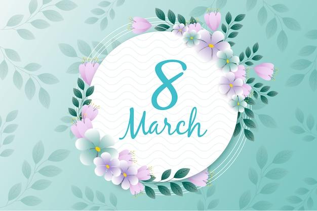 Día floral de la mujer con fecha