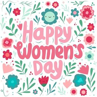 Día floral de la mujer con flor