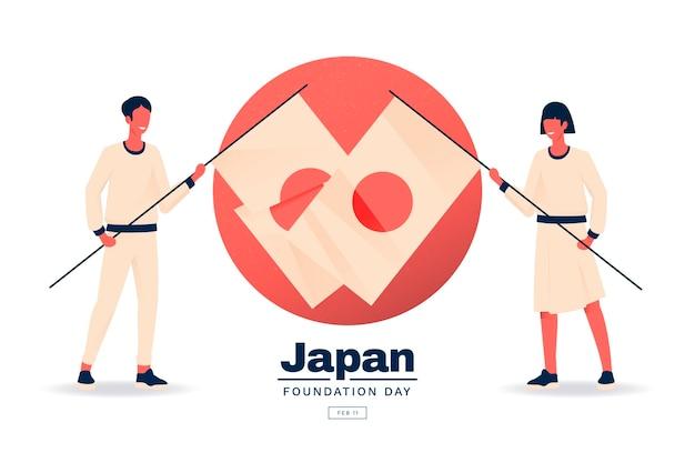 Día de la fundación plana japón