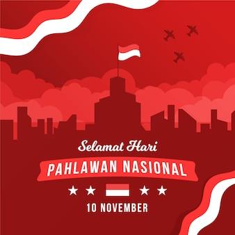 Dia de los heroes pahlawan plana