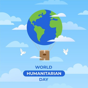 Día humanitario tierra y palomas